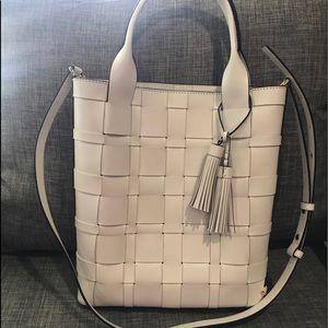Michael Kors Vivian Optic White leather tote
